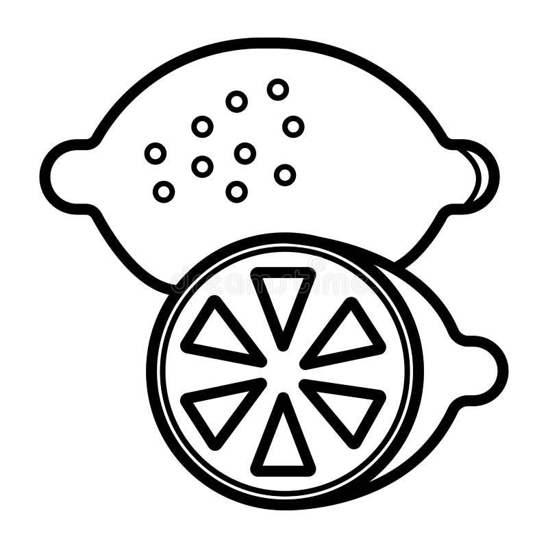 Citronsymbol, vektor stock illustrationer