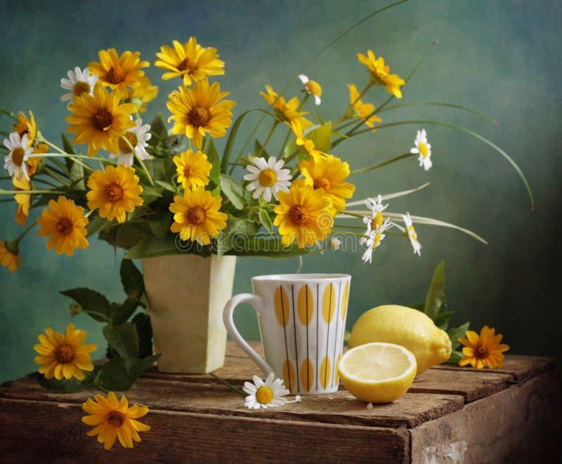 citrontea royaltyfria foton