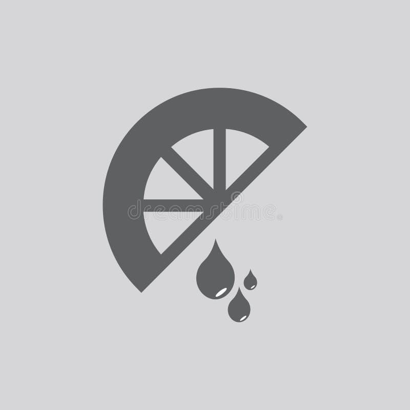 Citronvektorsymbol vektor illustrationer