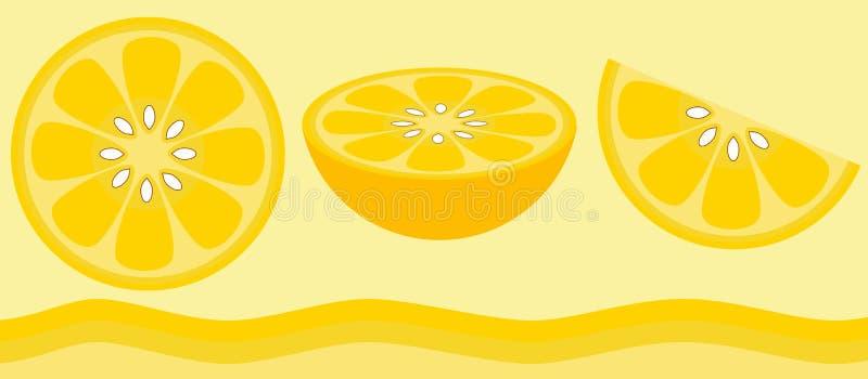 citrus citron royaltyfri illustrationer