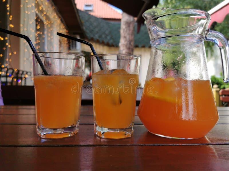 Citrus cold lemonade of their oranges, tangerines vector illustration