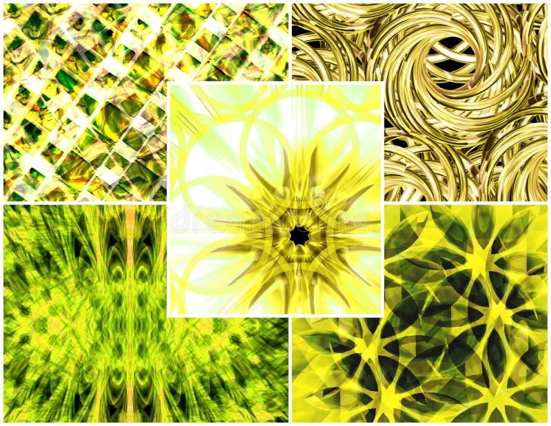 citrus collagefärg vektor illustrationer