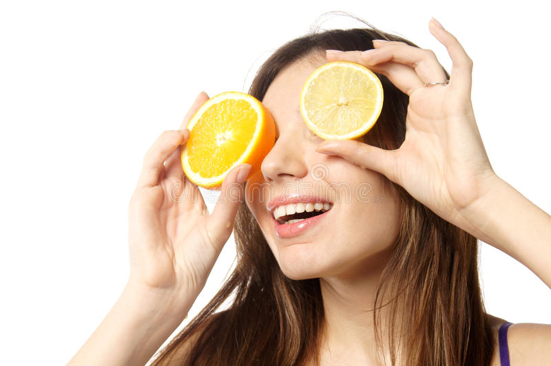 Download Citrus eyes stock photo. Image of body, girl, food, juicy - 17844520