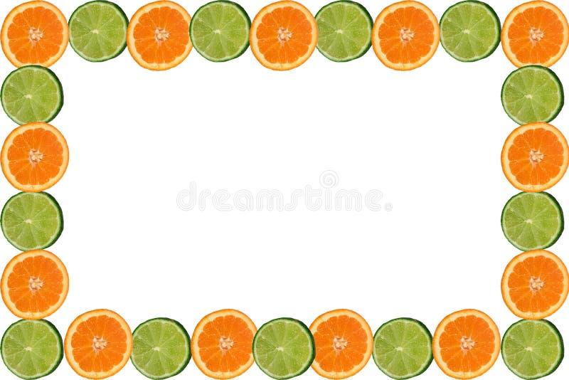 Citrus frame. Oranges and limes frame royalty free illustration