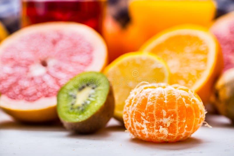 Citrus fresh fruit. Mandarin tangerine Orange grapefruit lemon l royalty free stock photo