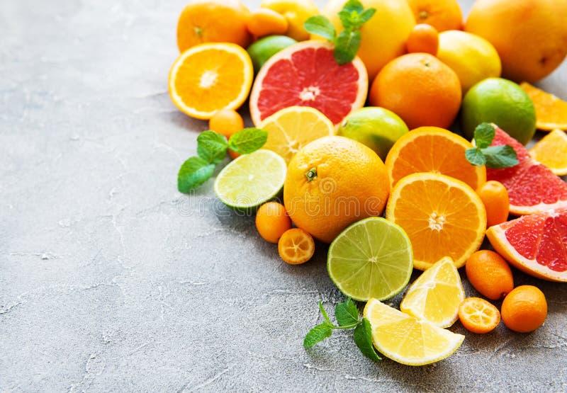 Fresh citrus fruits royalty free stock images