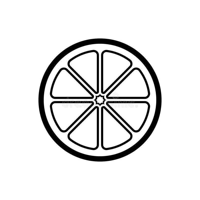 Free Citrus Fruit Half Slice Outline Vector Icon Illustration Design. Stock Image - 179732921