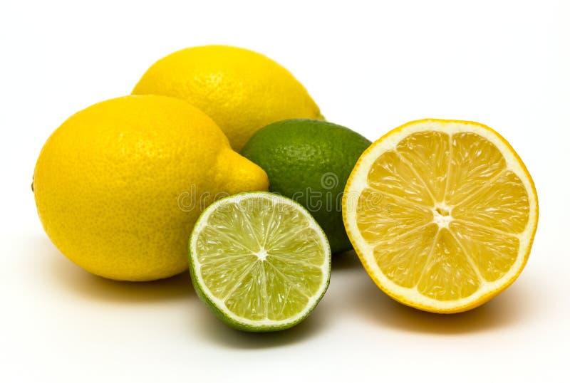 Citrus fruit on white background stock photos