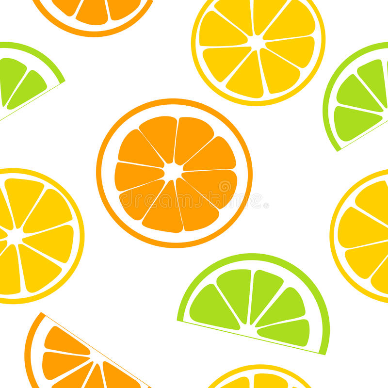 Citrus fruits juicy slices. Lemon, grapefruit, lime, orange. seamless pattern. Citrus fruits juicy slices. seamless pattern vector. Lemon, grapefruit, lime stock illustration