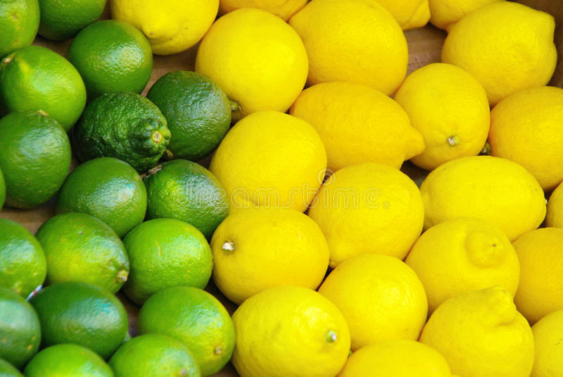 Citrus- kalk stock afbeelding