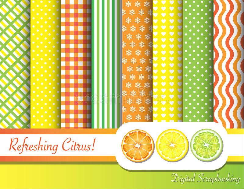 Download Citrus scrapbooking stock vector. Image of frame, illustration - 22287257