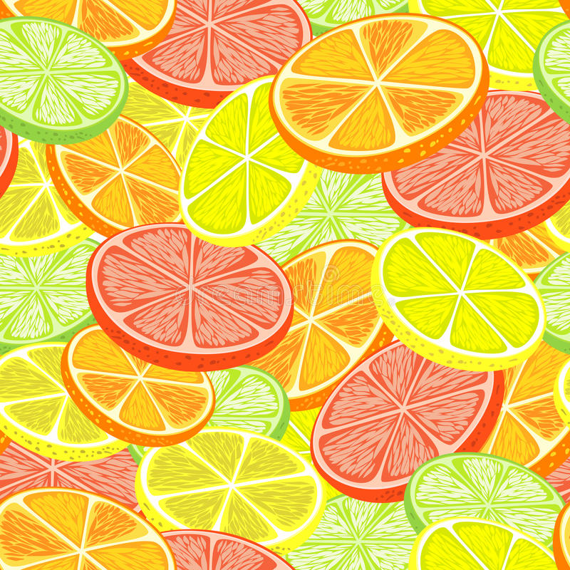 Citrus seamless background stock illustration
