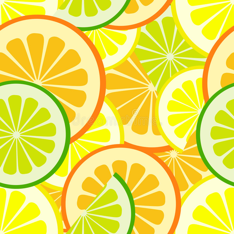 Citrus seamless pattern royalty free illustration