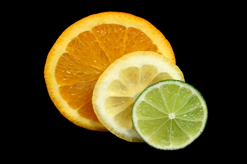 Citrus Slices. Delicious fresh citrus slices straight from the orchard stock image