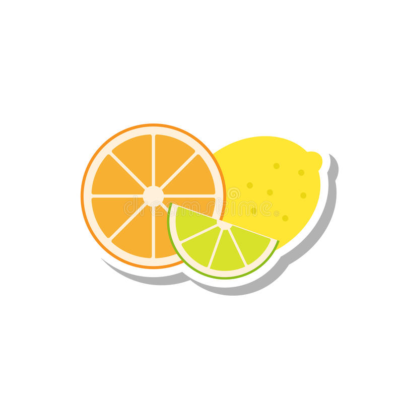 Citrus symbol stock illustrationer