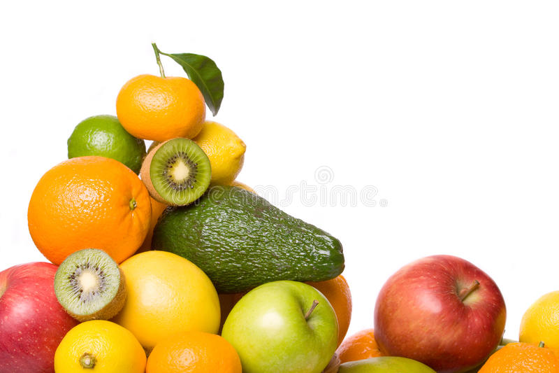 citrusfrukt isolerade annan white royaltyfria foton