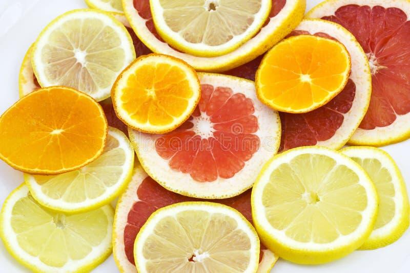 citrusfruktskivor arkivbilder