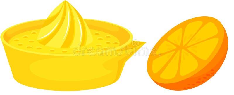 Citrusvrucht juicer stock illustratie