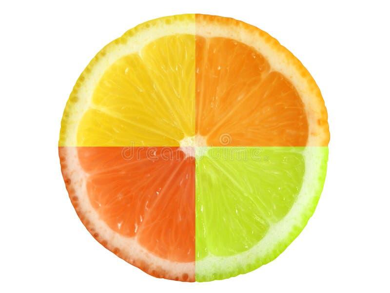 Citrusvruchten en het knippen weg royalty-vrije stock foto's