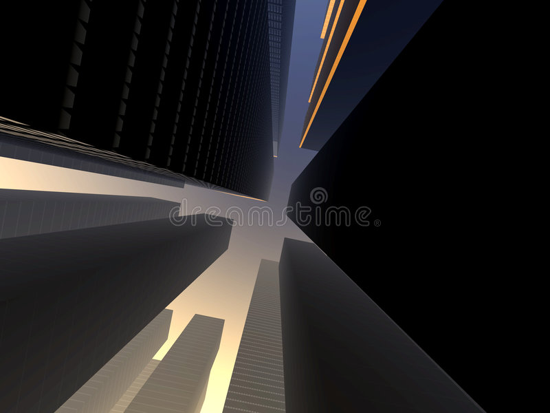 Città 14 illustrazione di stock