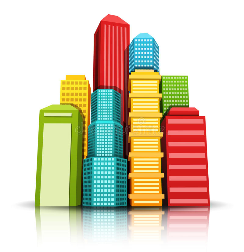 Città illustrazione di stock