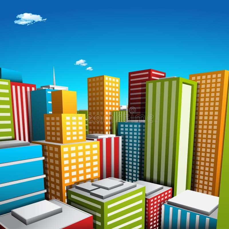 Città illustrazione vettoriale