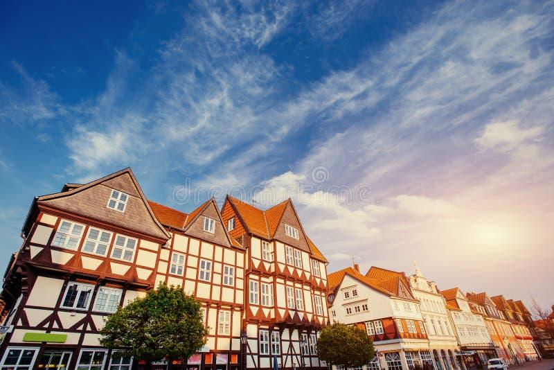 Città affascinante nel ttel di Wolfenb - della Germania Poca Venezia immagine stock
