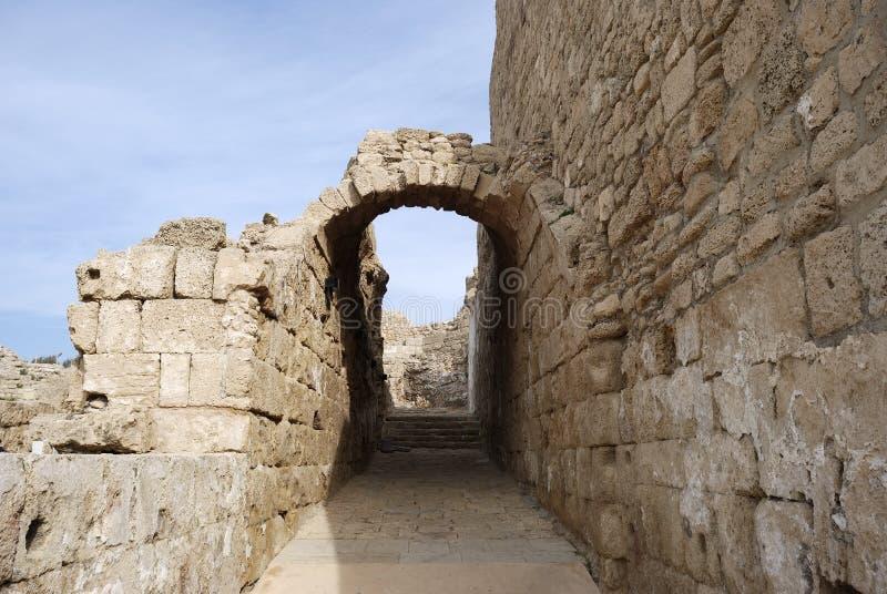 Città antica Ceasarea immagini stock