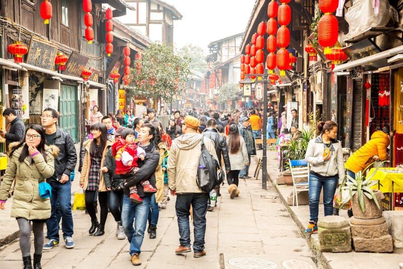 Città antica Chongqing China di Ciqikou immagine stock libera da diritti