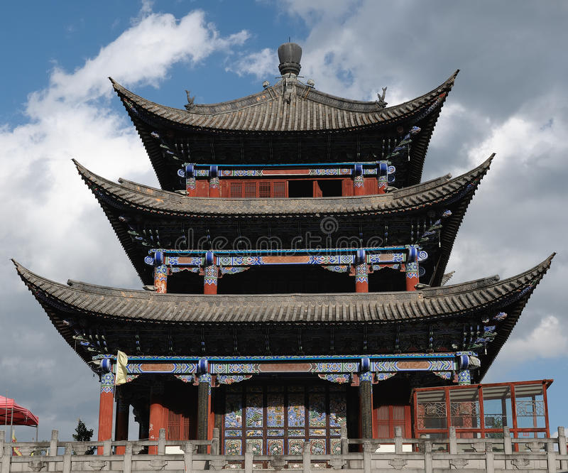 Città antica Dali in Cina che è un'attrazione turistica fotografie stock