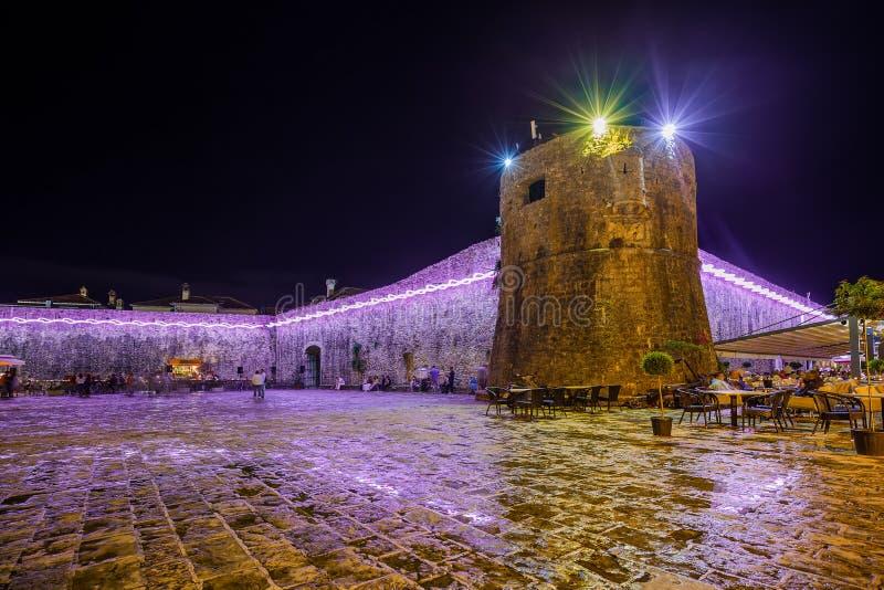 Città antica del Montenegro di Budva immagini stock libere da diritti