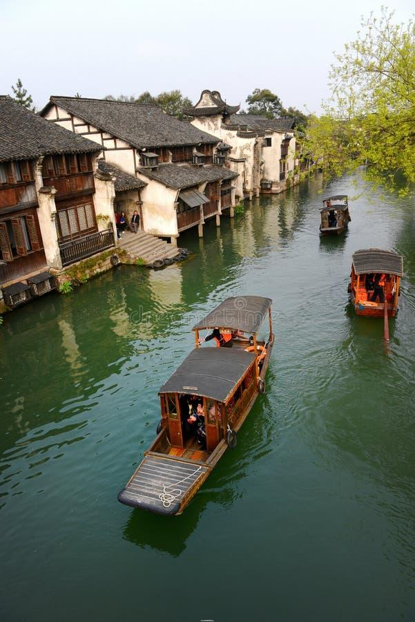 Città antica del villaggio-Wuzhen dell'acqua immagine stock