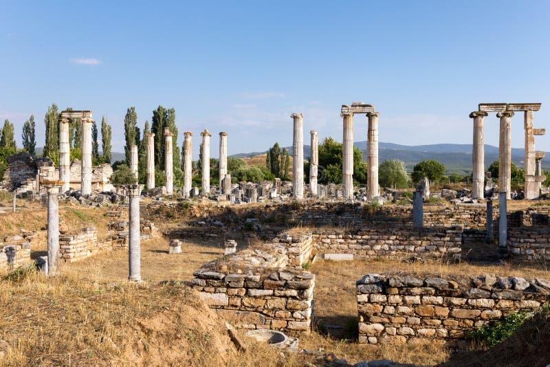 Città antica di Afrodisia, museo di Afrodisia, Ayd? n, regione egea, Turchia - 9 luglio 2016 immagini stock