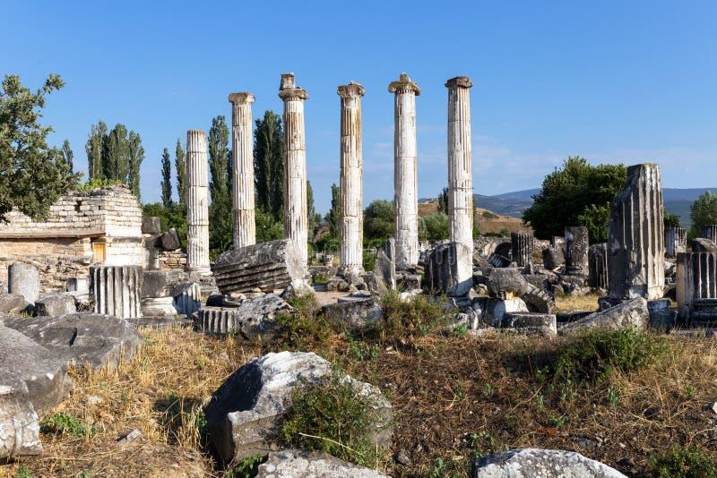 Città antica di Afrodisia, museo di Afrodisia, Ayd? n, regione egea, Turchia - 9 luglio 2016 immagine stock libera da diritti