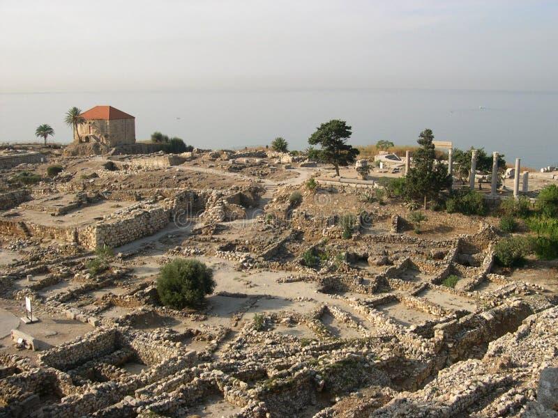 Città antica di Byblos, Libano fotografia stock
