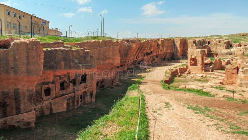 Città antica di Dara in Mesopotamia, Mardin immagini stock