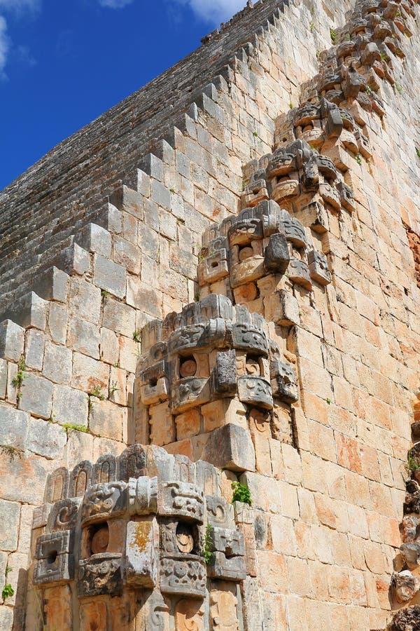 Città antica di maya di Uxmal XIX fotografia stock libera da diritti