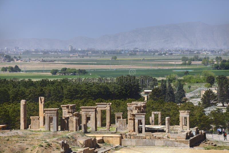 Città antica di Persepolis del persiano del museo all'aperto vicino a Shiraz, IRA fotografie stock libere da diritti