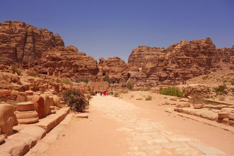 Città antica di Petra Jordan fotografie stock libere da diritti