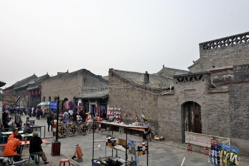 Città antica di Ping Yao fotografie stock