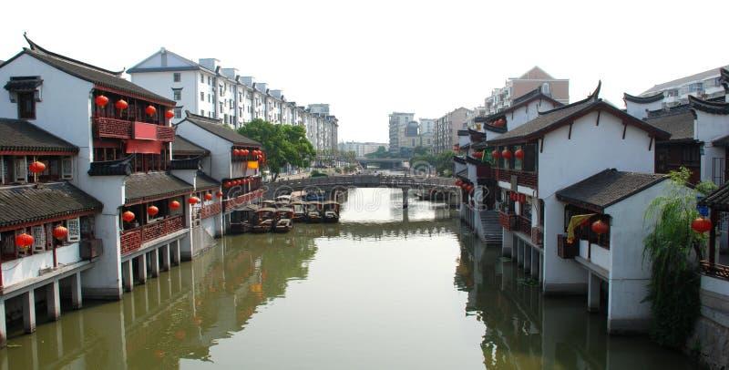 Città antica di Qibao, Schang-Hai fotografia stock