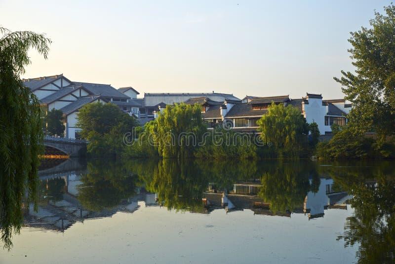 Città antica di Taierzhuang, Cina fotografia stock