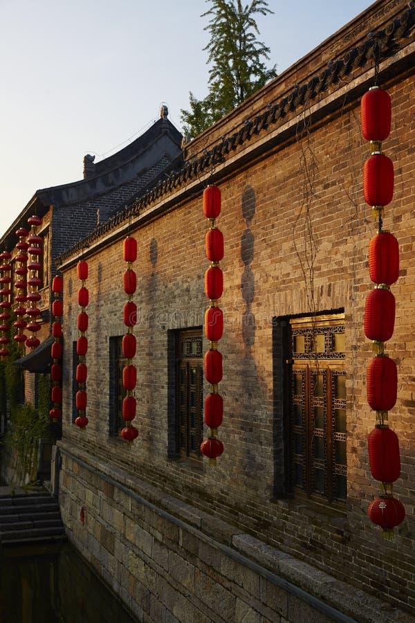Città antica di Taierzhuang, Cina fotografia stock libera da diritti