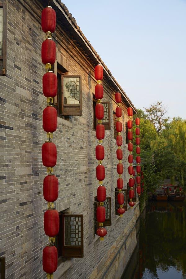 Città antica di Taierzhuang, Cina immagini stock