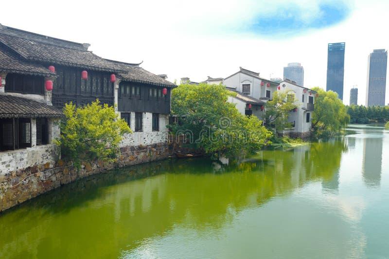 Città antica di Xuntang fotografie stock