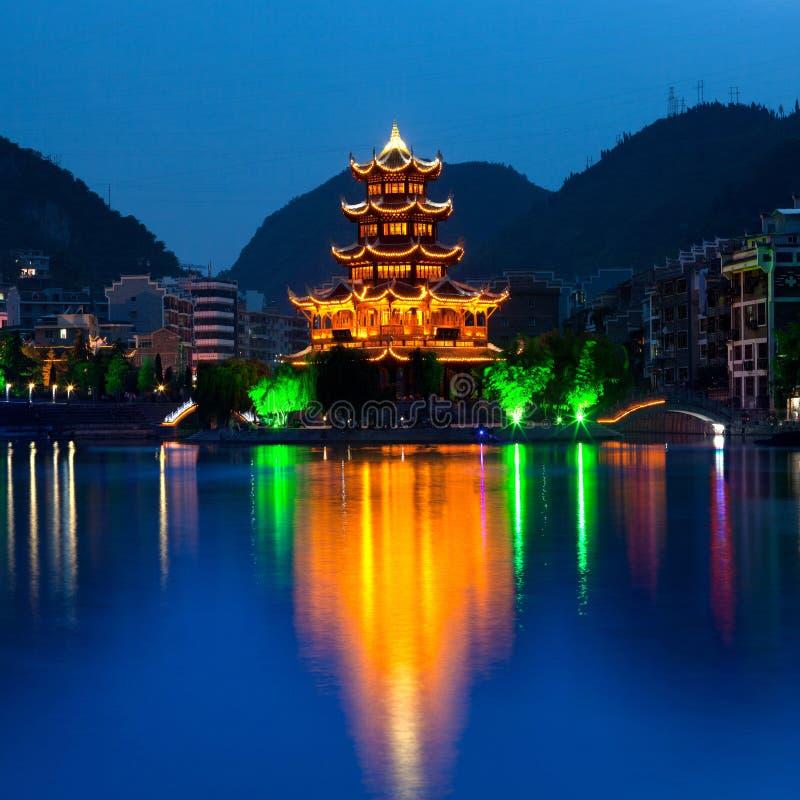 Città antica di Zhenyuan, Cina fotografia stock libera da diritti