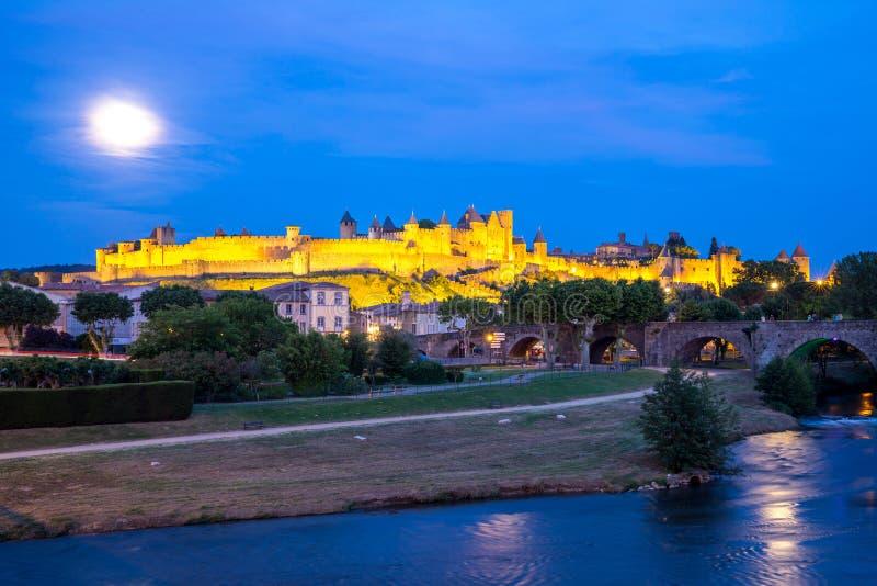 Città antica Francia di Carcassonne fotografie stock