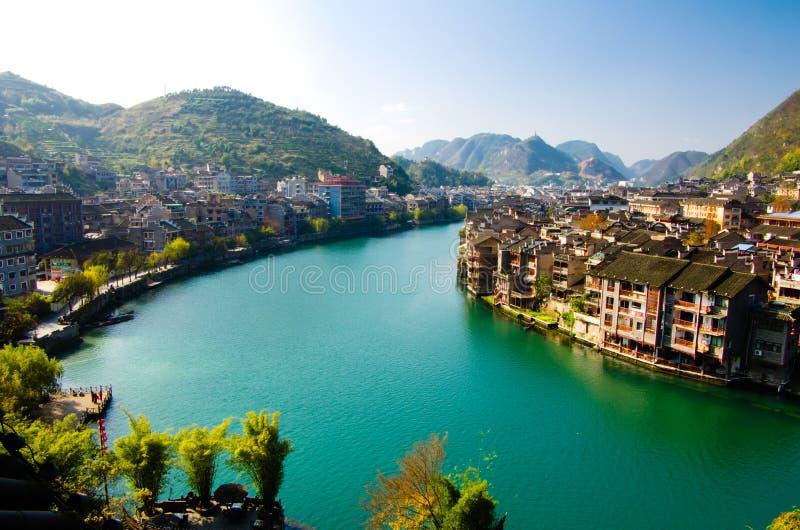Città antica in Guizhou, Cina fotografia stock libera da diritti