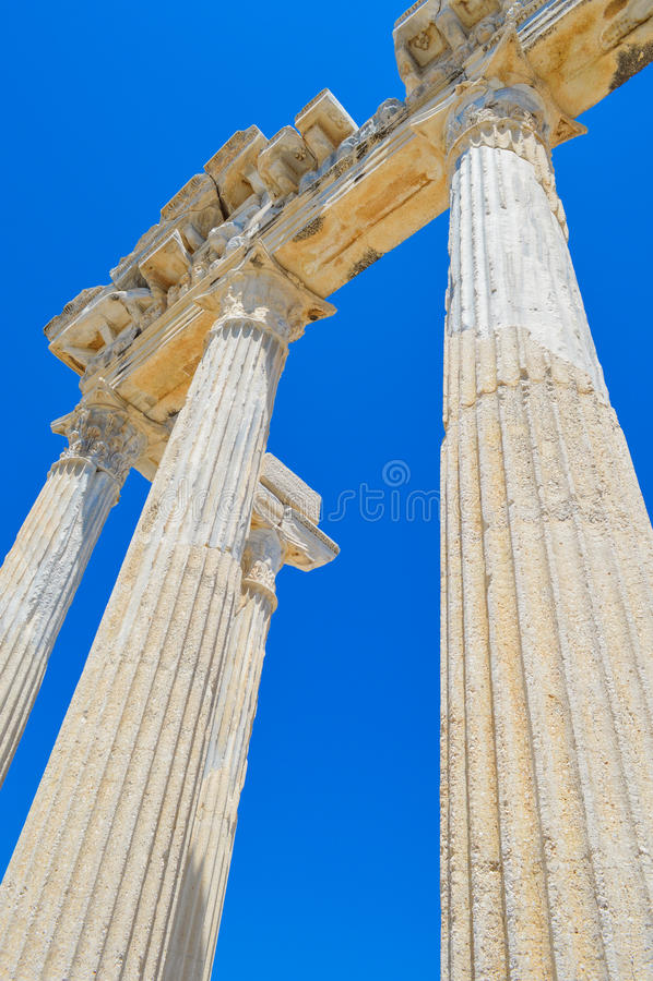 Città antica laterale Adalia/tacchino fotografia stock libera da diritti