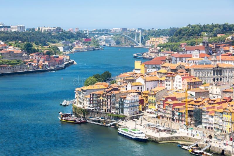 Città antica Portogallo di Oporto fotografia stock